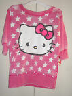 Hello Kitty Girls Top Pink  Size S 8 or M 10-12 or L 12-14 NWT