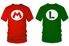 Mario Or Luigi T-Shirt XS S M L XL XXL Super Mario Bros Nintendo N64 SNES  NEW