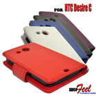 5 COLOUR PU LEATHER WALLET FLIP CASE COVER FOR HTC DESIRE C PHONE