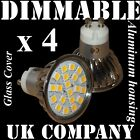 4 x GU10 20 SMD LED DIMMABLE or NON-DIMMABLE Warm / Day White Halogen bulbs