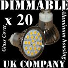 20 x GU10 20 SMD LED DIMMABLE or NON-DIMMABLE Warm / Day White Halogen bulbs