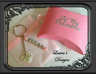 Special Girlfriend Personalised Name Keyring Pink Gift Boxed Valentines Birthday