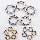 15mm 30Pcs Tibetan Silver Round Twine Foral Shaped Ring Findings For Craft DIY