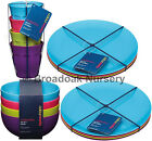 4PK COLOURWORKS MELAMINE TABLEWARE - Everyday, Picnic, Camping, Party, Children
