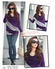 Fashion Lady Batwing Dolman Long Sleeve Cotton Casual Tops T-Shirt Blouses