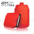 LEATHER PULL TAB SKIN CASE COVER POUCH FITS VARIOUS LG MOBILES