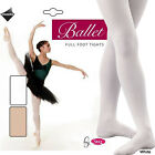 Silky Girls Ladies Pink White Full Footed Ballet Dance Tights