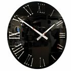 Roco Verre 3D Mirror Acrylic Roman Wall Clock in Red,Black or White