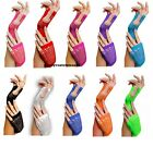 LONG SHORT FISHNET FANCY DRESS FINGERLESS GLOVES NEON COLOURS FOR 80s DANCE TUTU