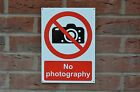 No Photography Prohibition Silk Screen Printed Sign/Sticker Multi-Listing