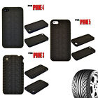 BLACK COLOUR TYRE STYLE SOFT RUBBER MOBILE PHONE CASE COVER FOR IPHONE 3 / 4 / 5