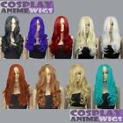 24 inch Heat Resistant All Color Midpart Curly Wavy Cosplay Wigs
