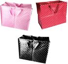Recycled Re-usable Jumbo Shopping Laundry Storage Bedding Bag- Dotty Design