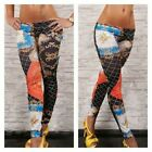 Womens Multi Print Fitness Gym Ladies Pattern Yoga Full Length leggings 06-14