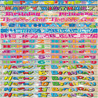 Kids Childrens Birthday Foil Glitz Banners Ages 1-13 Boy Girl Designs here