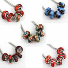 30Pcs Mixed Colors Resin Round Spacer Beads With Big Hole Fit Charms Bracelets