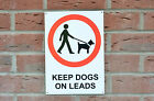 Keep Dogs On Leads Sticker/Plastic/Holed Public Place Prohibition Warning Sign