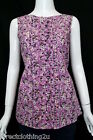 NEW Red Herring @ Debenhams LADIES CASUAL COTTON SLEEVELESS TOP sz 8-18 FLORAL
