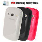 3 COLOUR SOFT RUBBER GEL MOBILE PHONE CASE COVER FOR SAMSUNG GALAXY FAME S6810P