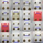 STERILE 24ct Gold Plated STUD EARRINGS Assorted designs & Shapes Sold in PAIRS