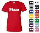 Pizza Man Girl Cheese Pepperoni Junk Food Delivery Person Funny Woman's T-shirt