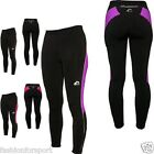 Ladies High Viz Thermal Running Gym Cycling Long Tights Leggings Bottoms Pants