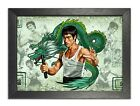Bruce Lee Illustration American Actor Martial Arts Legend Print Dragon Poster