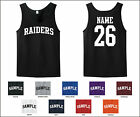 Raiders Custom Personalized Name & Number Tank Top Jersey T-shirt