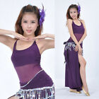 Sexy Transparent Yarn Style Vest Top Belly Dance Yoga practice clothing 9 colors