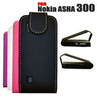 4 COLOUR PU LEATHER FLIP PROTECTIVE CASE COVER FOR NOKIA ASHA 300 MOBILE PHONE