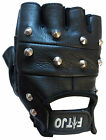 STUDDED LEATHER CYCLING / CYCLE / WEIGHT LIFTING / WHEELCHAIR SPORTS GLOVES