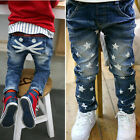 New Size 2-7Y  Boys Girls Pants Kids  Printing Cartoon Jeans PB048