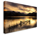Sunset Over Beautiful Lake Wall Picture Prints Canvas Art Cheap