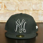 New Era 59 fifty 59/50 fitted New York Yankees Brand New Baseball Cap in black