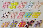 99p for 2 SALE baby/girls hair slides alligator clips bows pins wedding favour