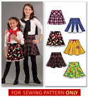 SEWING PATTERN! MAKE SKIRTS! CHILD 3 TO GIRL 14! SCHOOL CLOTHES! SIX STYLES!