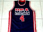 CHRISTIAN LAETTNER #4 TEAM USA BASKETBALL JERSEY NEW NAVY BLUE - ANY SIZE