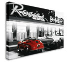 Rosies Diner Retro Vintage Cars Wall Picture Canvas Prints Art Cheap