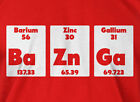 Bazinga Periodic Table T-shirt Big Bang Science School Geek Mens Ladies T-shirt