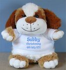 Christening Baptism Naming Ceremony Personalised Puppy Dog with a Gift Bag