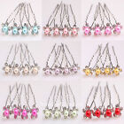 9Color Hair Pin Bridal Wedding Party Crystal Faux Pearl Colored Hair Accessories
