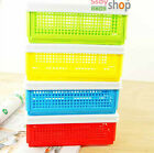 3Color Plastic Foldable Large Capacity Pens Stationery Case Office Storage Box