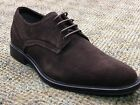 Men's Calvin Klein Gio Lace Up Plain Oxford Shoes F0274 Brown Suede