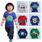 "NWT Baby Toddler Kids Boy Girl Clothes Long Top Tee Shirts ""Cool T-shirts Boy """