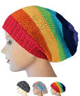 MULTI COLOR MEN & WOMEN HANDMADE CROCHET KNIT BRAIDED STRETCHY BAGGY HAT BEANIE