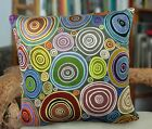 Rings VELVET PILLOW COVER FOLK ART ABSTRACT PRIM Various Sizes Karla Gerard
