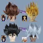 Dragon Ball Goku BROWN GOLD BLACK SILVER Halloween Wigs-fits both adult and kid