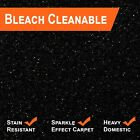 Cheap Sparkling Black Glitter Carpet 5 Year Stain & Wear Warranty Next Day Del