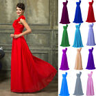 Elegant One Shoulder Prom Bridal Bridesmaid Formal Evening Party Gown Ball Dress
