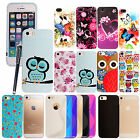 FOR APPLE IPHONE 5 5S 5G PRINTED RUBBER GEL SILICONE BACK SKIN CASE COVER+STYLUS